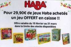 STARJOUET : OPERATION JEUX HABA